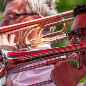 Dixieland Festival Dresden 2011 - trombone section