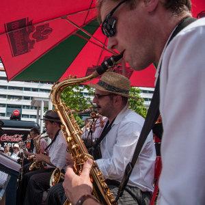Dixieland Festival Dresden 2011 - saxophone section